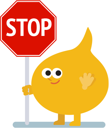 Buncee man with a Stop sign